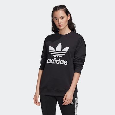 ADIDAS ORIGINALS Sweatshirt in de kleur Zwart / Wit: Vooraanzicht