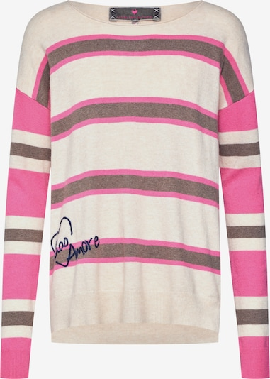 LIEBLINGSSTÜCK Pullover  'AnnikaL' in pink / schwarz / offwhite, Produktansicht