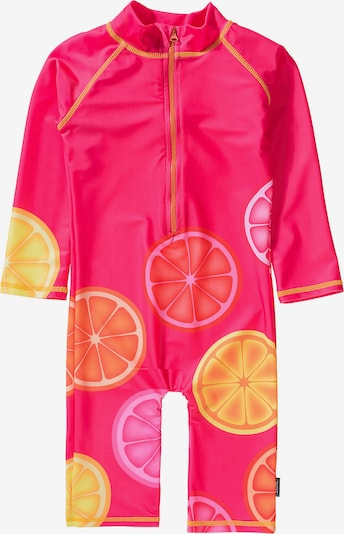 SWIMPY Schwimmanzug in limone / orange / neonpink, Produktansicht