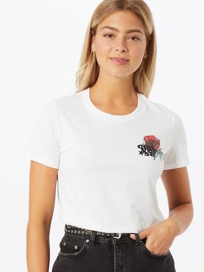 CONVERSE T-shirt 'ROMANCE' en rouge / noir / blanc: Vue de face