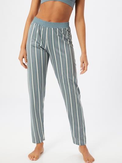 Pantaloni de pijama CALIDA pe mentă / roșu / alb: Privire frontală