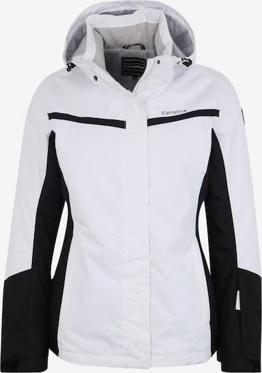 ICEPEAK Veste outdoor 'FOWLER' en noir / blanc, Vue avec produit