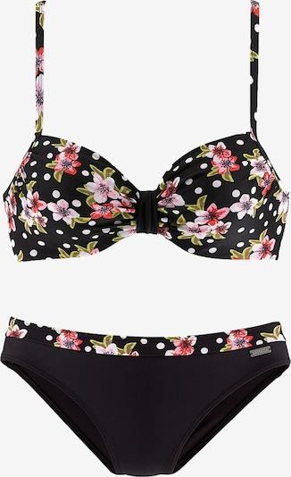 LASCANA Bikini | mešane barve / črna barva, Prikaz izdelka