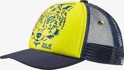 JACK WOLFSKIN Cap in nachtblau / gelb, Produktansicht