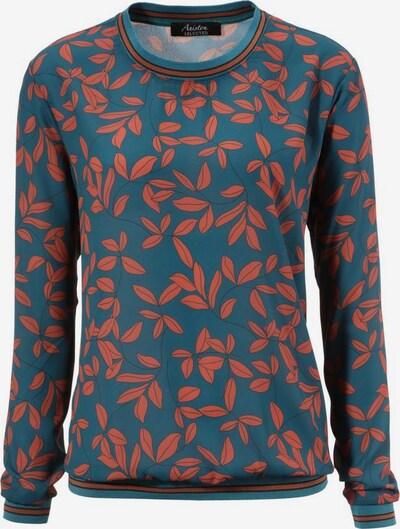 Aniston SELECTED Shirtbluse in blau / blutrot, Produktansicht