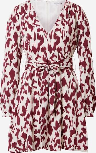 GLAMOROUS Kleid in weinrot / weiß, Produktansicht