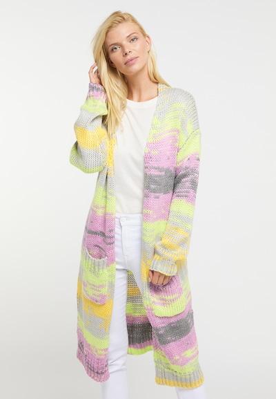 Usha Manteau en tricot en mélange de couleurs, Vue avec modèle