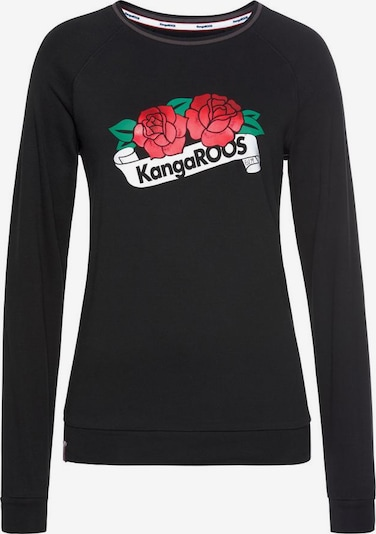 KangaROOS KangaROOS Sweatshirt in schwarz: Frontalansicht