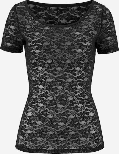 PETITE FLEUR GOLD Spitzen-Shirt in schwarz, Produktansicht