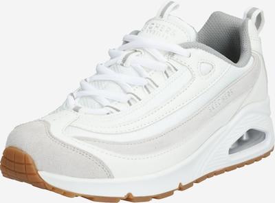 SKECHERS Zemie apavi 'UNO' pieejami pelēks / balts: Priekšējais skats