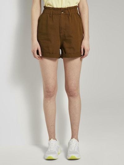 TOM TAILOR DENIM Shorts in braun, Modelansicht