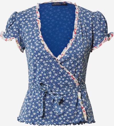 POLO RALPH LAUREN T-Shirt 'FLRL WRP TP-SHORT SLEEVE-KNIT' in blau / weiß, Produktansicht