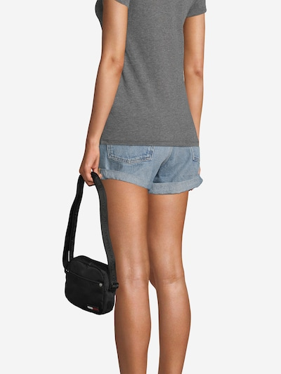 Tommy Jeans Taška přes rameno 'Campus Girl' - černá: Pohled zepředu