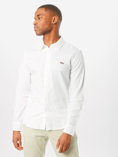 LEVI'S Hemd 'LS BATTERY HM' in weiß: Frontalansicht