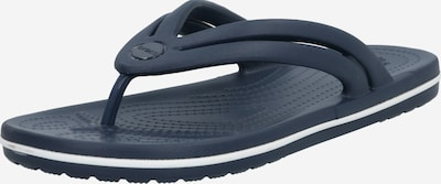 Crocs Slipper 'Crocband Flip' in navy / weiß: Frontalansicht