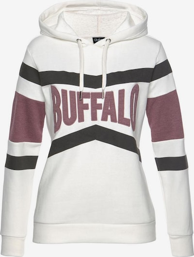BUFFALO Sweat-shirt en baie / noir / blanc: Vue de face