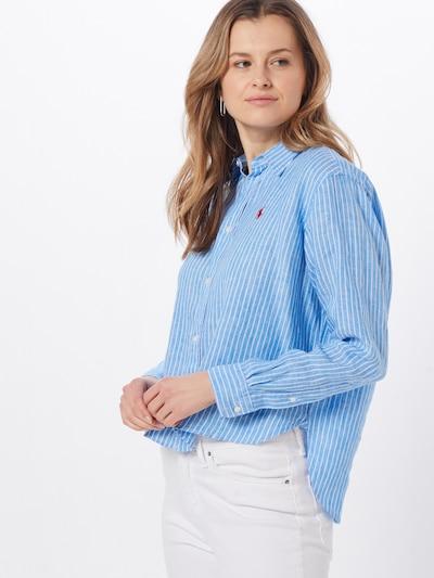 POLO RALPH LAUREN Bluse in blau / weiß: Frontalansicht