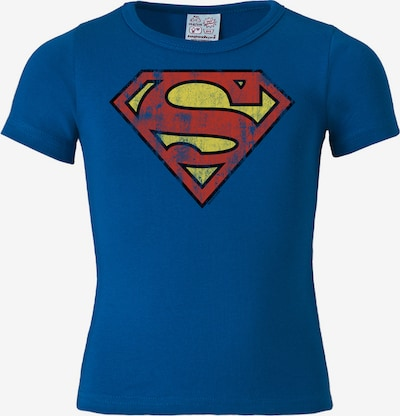"LOGOSHIRT T-Shirt ""Superman"" in blau / gelb / rot, Produktansicht"