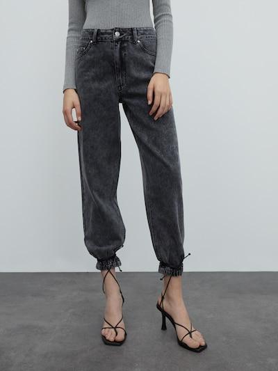 EDITED Džínsy 'Janis' - sivá, Model/-ka