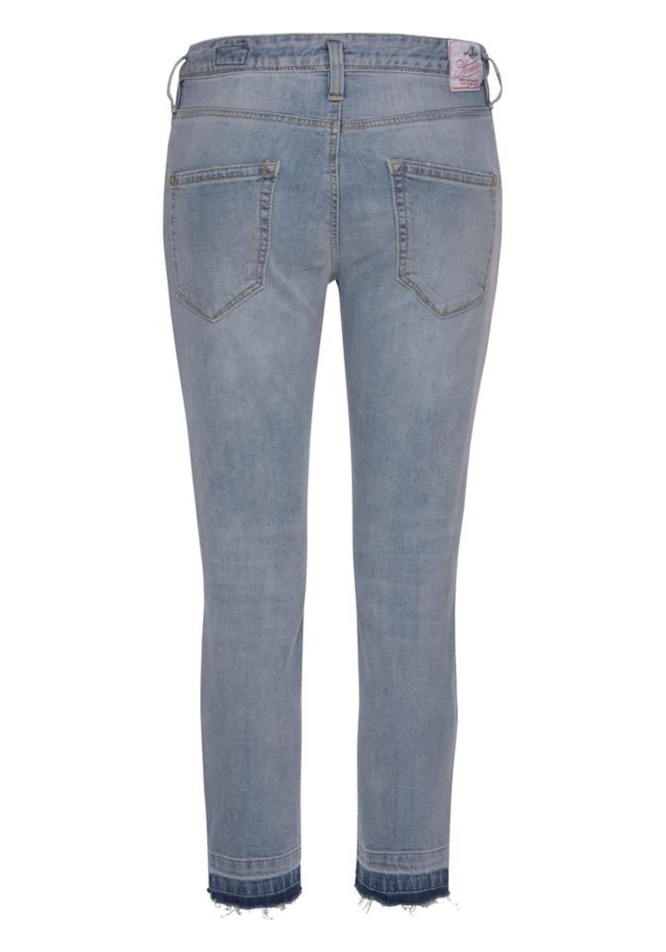 Cropped' Herrlicher Blue 'shyra In Denim Jeans 5A34jLqR