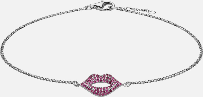 SO COSI Armband 'Lips are Moving' in silber, Produktansicht