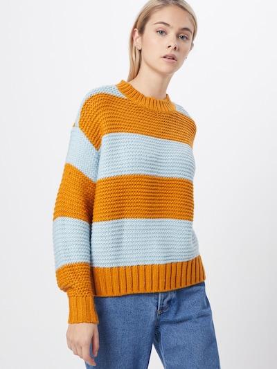 PIECES Pullover 'PCINA' in orange, Modelansicht