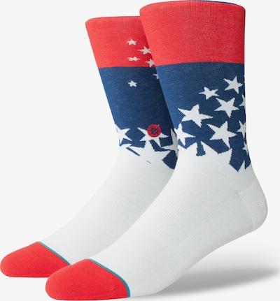 Stance Socke 'Indie' in blau / rot / weiß, Produktansicht