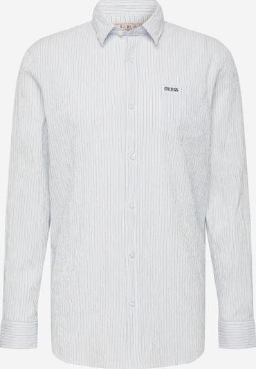 GUESS Koszula w kolorze niebieski / białym, Podgląd produktu