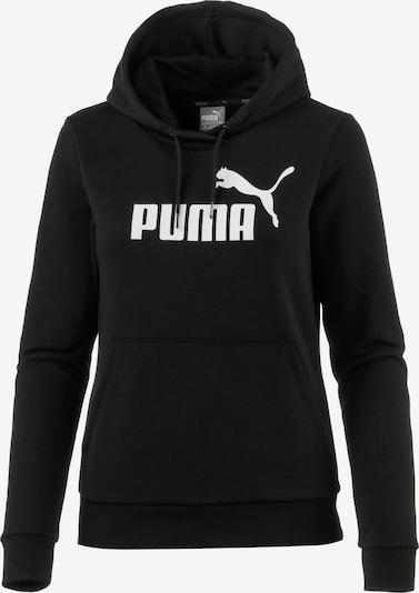 PUMA Sweatshirt en noir / blanc, Vue avec produit