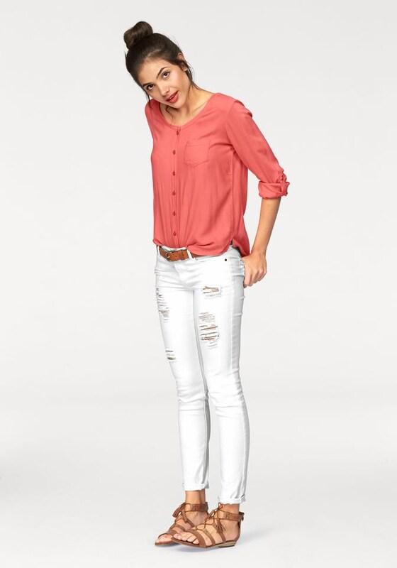 AJC Shirtbluse 'Rippbündchen'