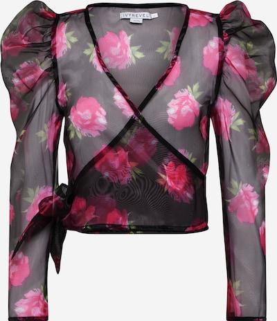 IVYREVEL Bluse 'PUFF SHOULDER ORGANZA TOP' in pink / schwarz, Produktansicht