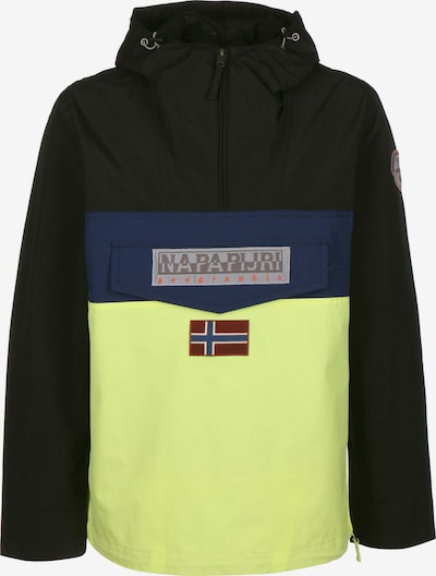 NAPAPIJRI Windbreaker ' Rainforest Block ' in dunkelblau / gelb / schwarz, Produktansicht
