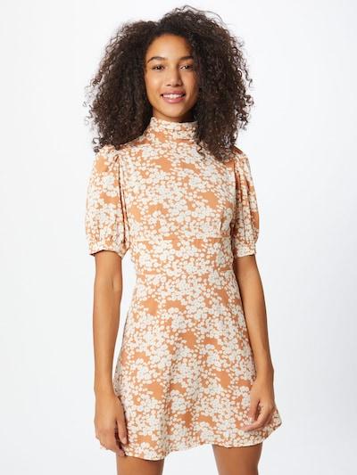 Fashion Union Kleid 'Venus' in dunkelorange / weiß, Modelansicht