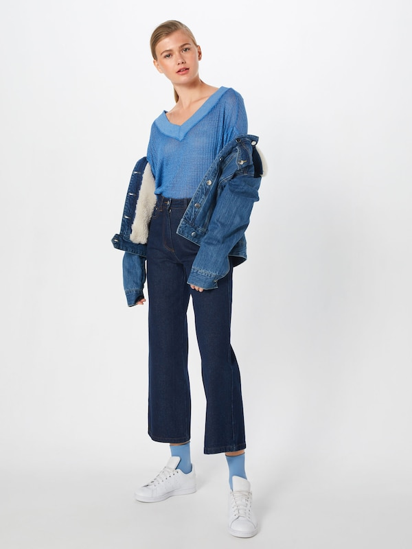 T shirt Clair Free Side Bleu People 'south Thermal' En H29IEWD