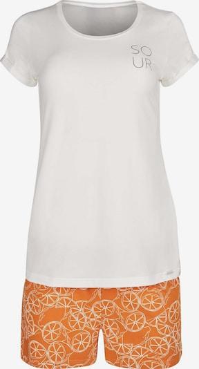 Skiny Pyjama Earth Sleep mit modischem Print in orange / weiß, Produktansicht