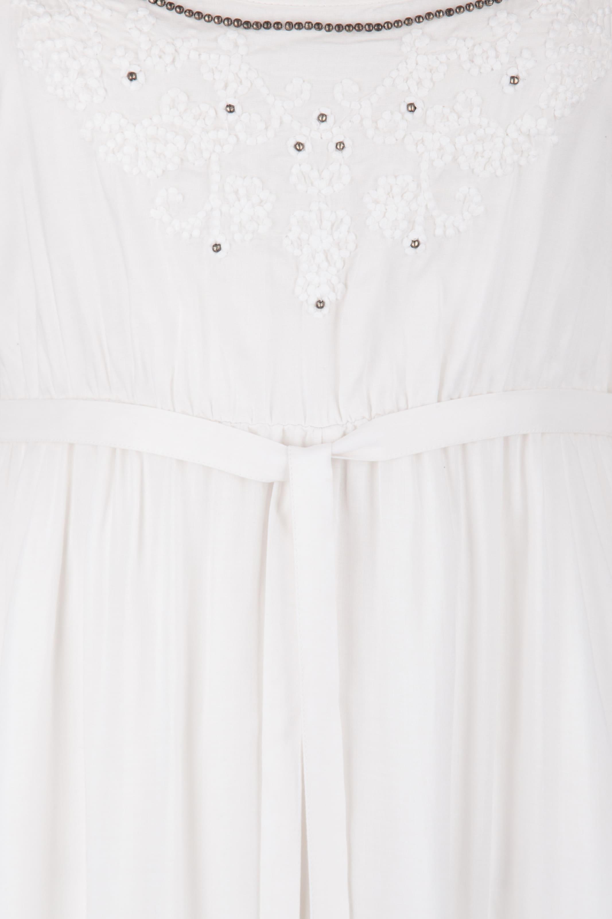 Usha Usha Robe Robe Blanc D'été En SMGqVUzLp