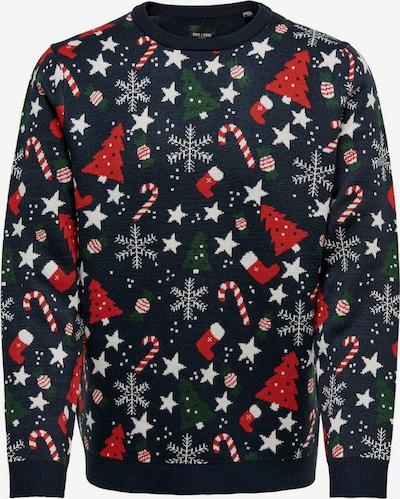 Pulover 'Christmas' Only & Sons pe navy / culori mixte, Vizualizare produs