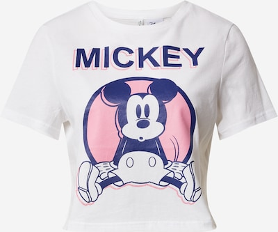 ONLY Shirt 'MICKEY' in pink / weiß, Produktansicht