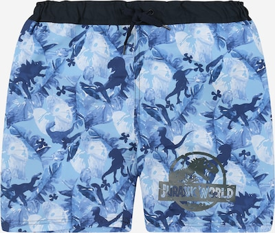 NAME IT Badeshorts 'Jurassic World' in marine / hellblau / dunkelblau, Produktansicht
