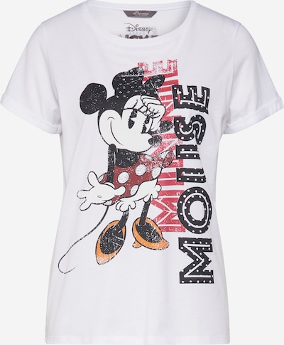 PRINCESS GOES HOLLYWOOD Shirt 'Disney Minnie' in goldgelb / dunkelgrün / pitaya / schwarz / weiß, Produktansicht
