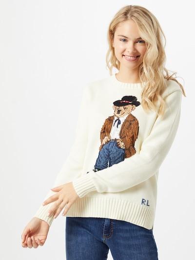 POLO RALPH LAUREN Pullover in creme / mischfarben, Modelansicht