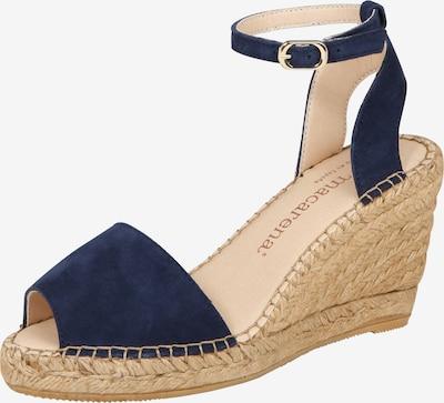 MACARENA Sandalen met riem 'Carla 92' in de kleur Marine, Productweergave