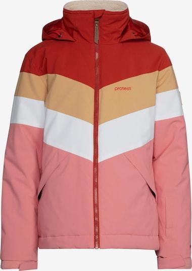 PROTEST Snowboardjacke 'Fudge' in pfirsich / rosa / rot / weiß, Produktansicht