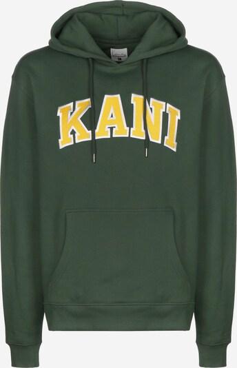 Karl Kani Hoodie 'College' in gelb / dunkelgrün, Produktansicht