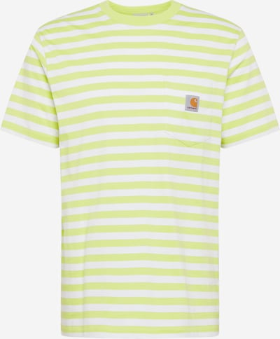 Carhartt WIP T-Shirt 'Scotty Pocket' in limette / weiß, Produktansicht