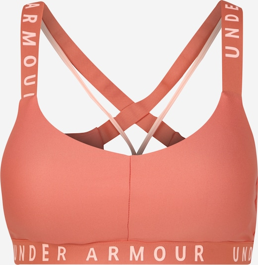 UNDER ARMOUR Soutien-gorge de sport 'Wordmark Strappy Sportlette' en orange, Vue avec produit
