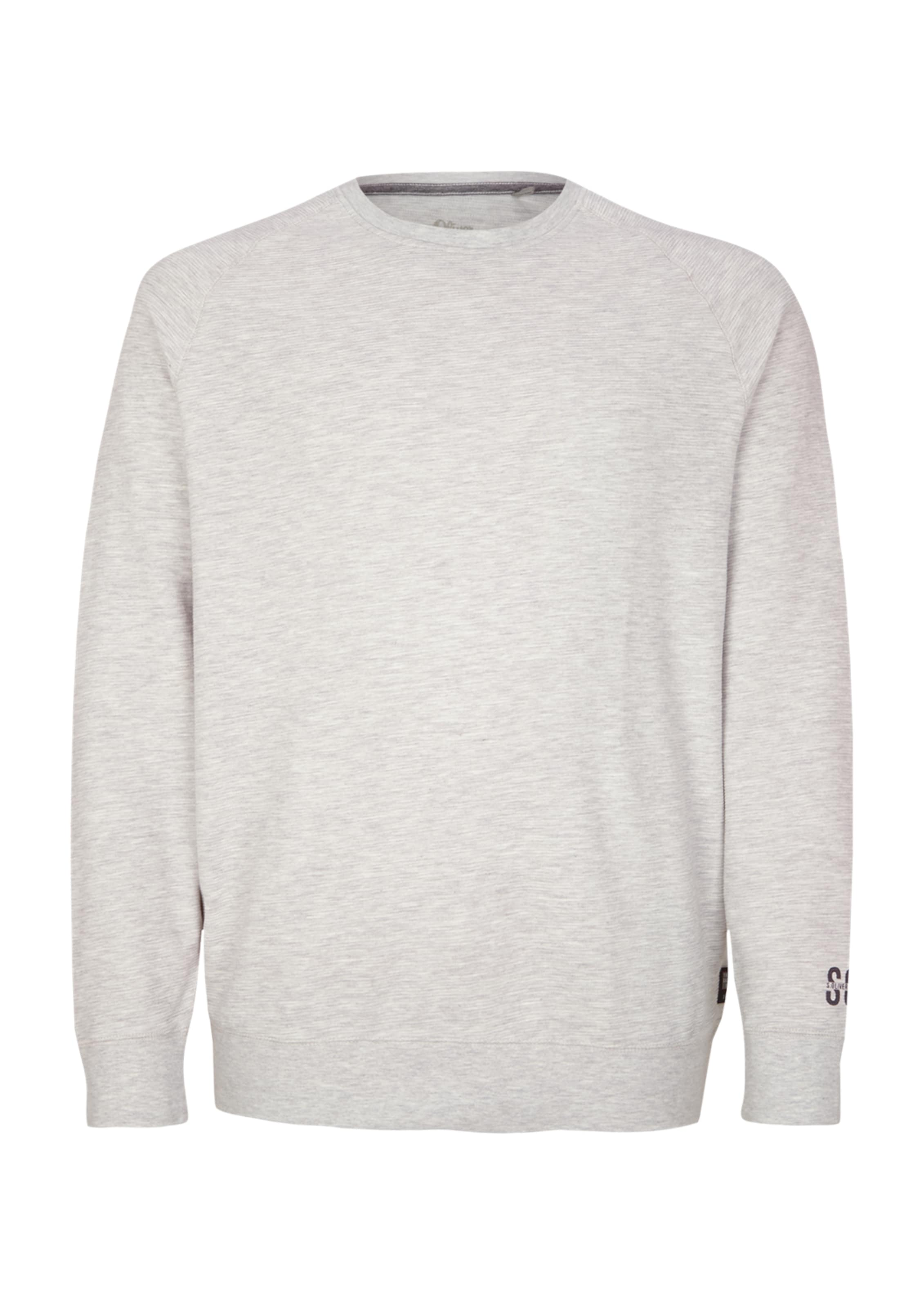 S In oliver Sweatshirt Hellgrau sQthdxrC
