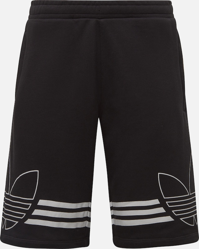 ADIDAS ORIGINALS Shorts 'Outline' in schwarz / weiß, Produktansicht