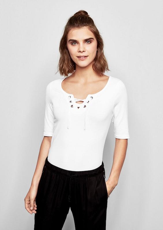 Q By s Designed Weiß Shirt vqZEvRxr