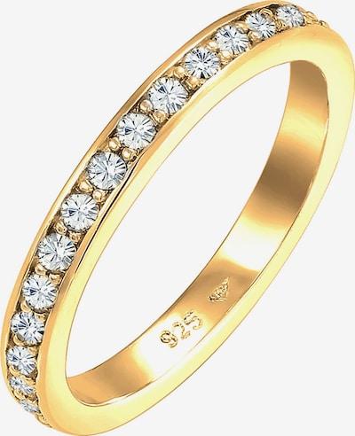 ELLI Ring 'Bandring, Kristall' in gold, Produktansicht